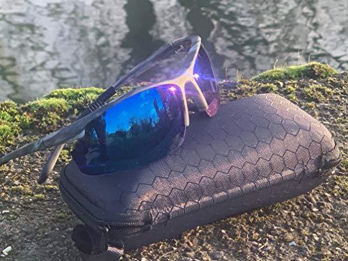 Gafas de sol de camuflaje con lentes azules, para pesca de carpa, gafas de sol polarizadas, aparejos de carpa