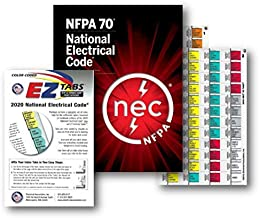 2020 National Electrical Code (NEC) Paperback (Softbound), with EZ Tabs (Color Coded) and EZ Formula Guide 2020 Editions