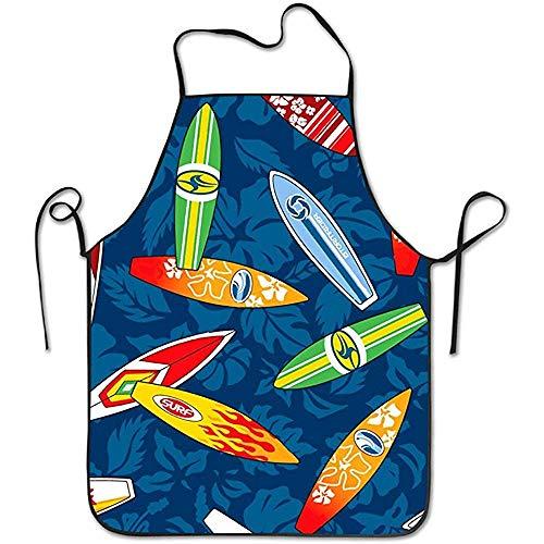 GWrix Heldere Unisex Surfplank Hawaii Bloemenkook&Keuken Schort Waterdicht Perfect koken, bakken, knutselen, grillen