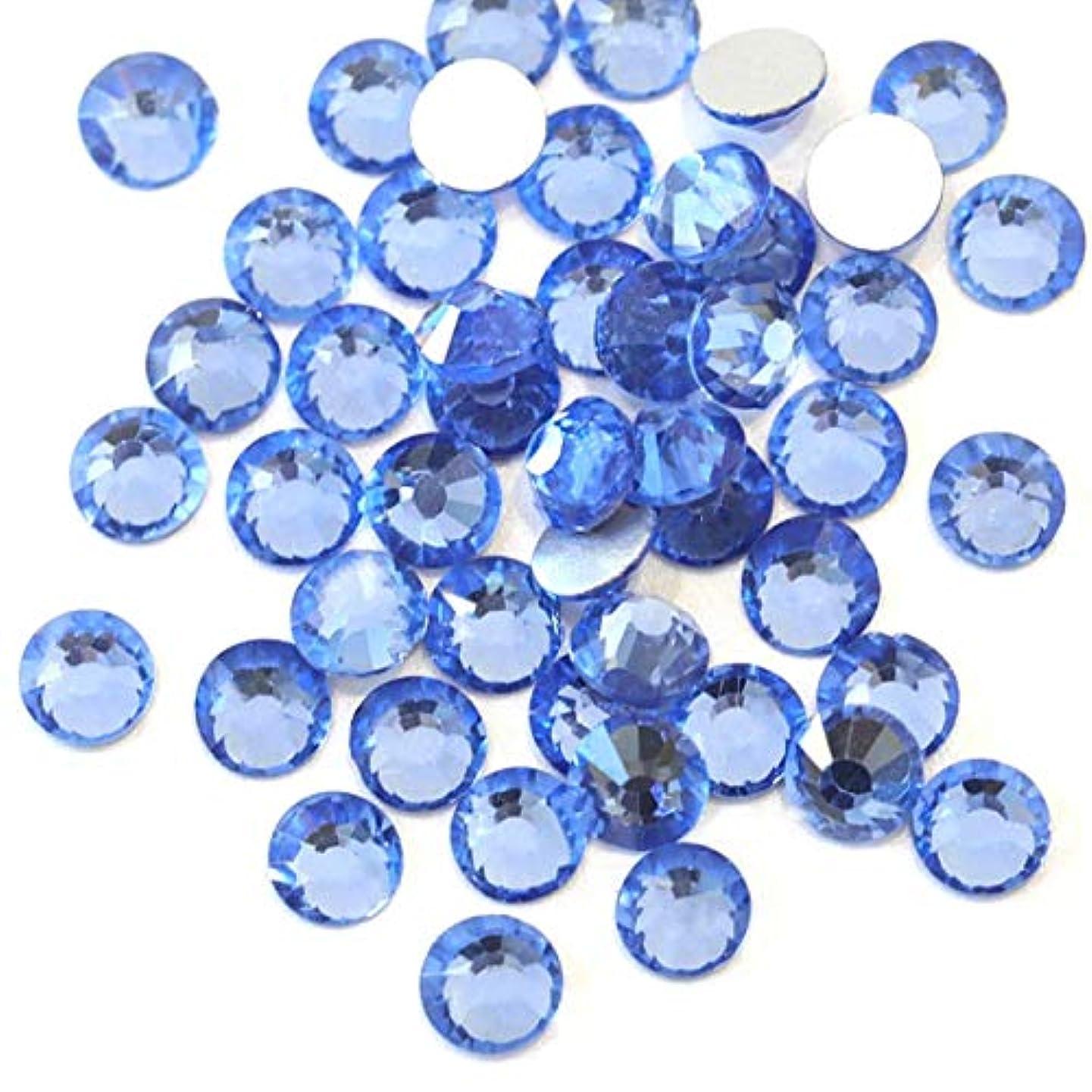 行動モニター文明【ラインストーン77】 超高級 ガラス製ラインストーン SS4~SS40 ライトサファイア スワロフスキー同等 (3.0mm (SS12) 約200粒)