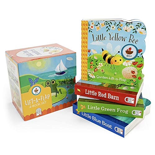 Nature Friends Lift-a-Flap Boxed Set 4-Pack: Little Red Barn  Little Blue Boat  Little Green Frog  and Little Yellow Bee (Chunky Lift a Flap)