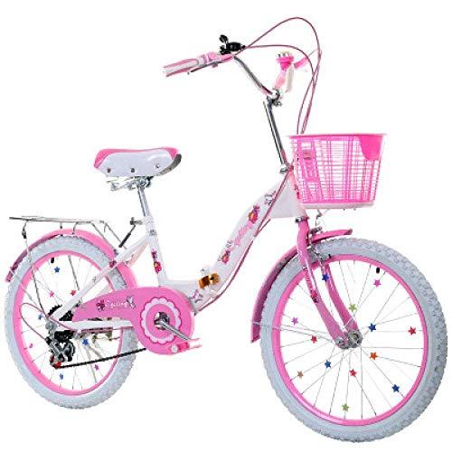 JINHH Bicicleta Plegable Bicicleta para niños Bicicleta de Cambio de Marcha de...