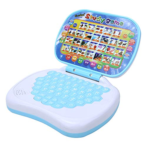 Children Computer Toy, Baby Laptop Learning Machine Toy, Mini Educational Computer Toy with Schematic Drawing & 36 English Words for Baby Kid Children Toddlers Ages +3