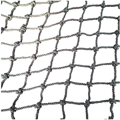 Amacthysh Outdoor-Kinder-Kletternetz Sicherheitsnetz Gartennetz Balkonschutz Zaun Decking Rope Net Hängematte Sicherheitsnetz Frachtnetz Anti-Wear Woven Rope Outdoor,2 * 2m/6.6 * 6.6ft