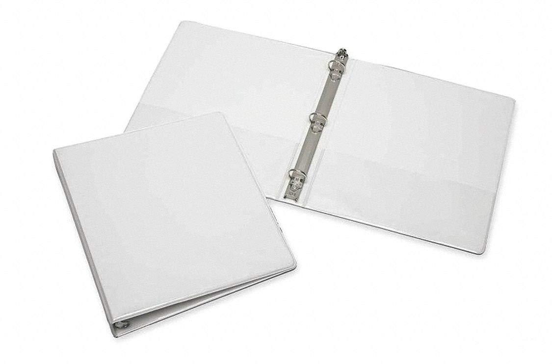 Archivador de 3 anillas, color blanco, tamaño de hoja de 20,32 x 27,94 cm, aglomerado recubierto de vinilo, 175 hojas de capacidad – Binde: Amazon.es: Amazon.es