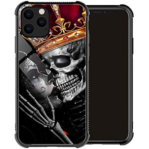 Compatible with iPhone 12 Pro Max Case,Skull Love Romance iPhone 12 Pro Max Cases for Men Boy,Drop Protection Cool Pattern with Soft TPU Bumper Case for Apple iPhone 12 Pro Max Case 6.7-inch