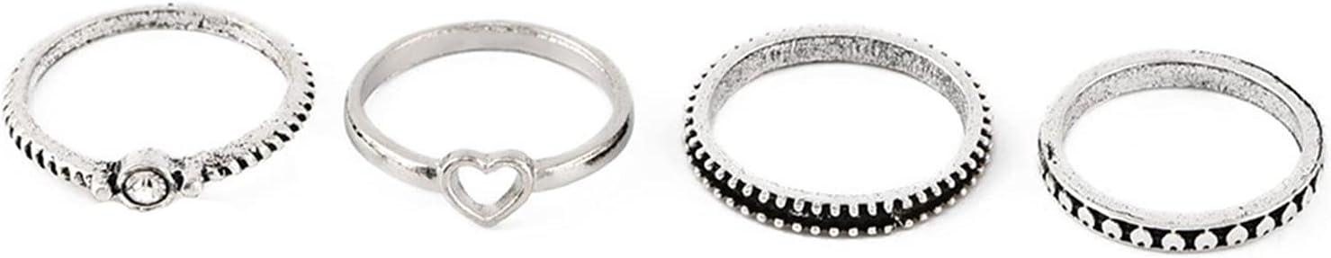 LoveAloe Women Rings Set Knuckle Rings Bohemian Rings for Girls Trendy Rings Joint Knot Ring Sets for Teens Girls