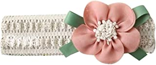 Koalcom Baby Girl Stretchy Headband Big Lace Flower Baby Hair Band Hair Accessories