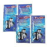 Orofix com-Four® Paquete económico de descalcificador rápido 60 g para cafeteras y hervidor (04 x 15g)