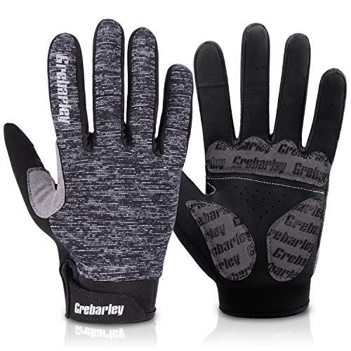 Grebarley fahrradhandschuhe,MTB Handschuhe,Mountainbike Handschuhe mit Touchscreen Finger für Radsport,Road Race,Downhill,Wandern,fahrradhandschuhe männer und Frauen (G-L)