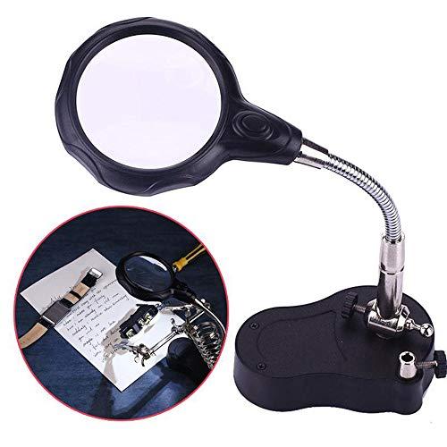 Desktop lamp vergrootglas LED lamp 3X 12X Oud lezen Elektronische test Ah sieraden identificatie vergrootglas