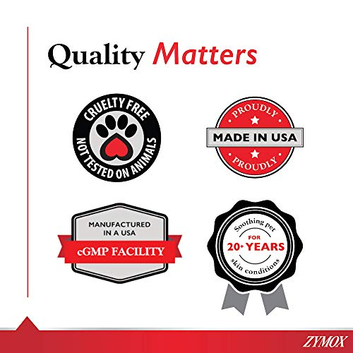Zymox Ear Solution the Only No Pre-Clean Once-a-Day Dog and Cat Ear Solution Natural Enzyme Formula Contains Hydrocortisone for Comfort