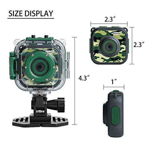 DROGRACE Kids Camera 1080P Digitale Foto- / Videokameras Unterwasser-Actionkamera Wasserdicht 98 Fuß für Kinder mit 1,77 LCD und Digitalzoom - Grün