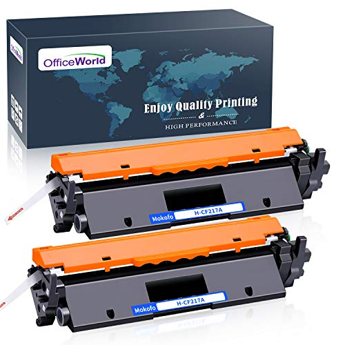 OfficeWorld Sostituzione per HP 17A CF217A Cartuccia di toner con Chip (2 Nero) Compatibile per HP Laserjet Pro M102A M102W, HP Laserjet Pro MFP M130a