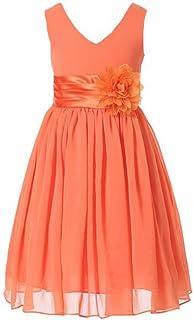 Burnt Orange Flower Girl Dress