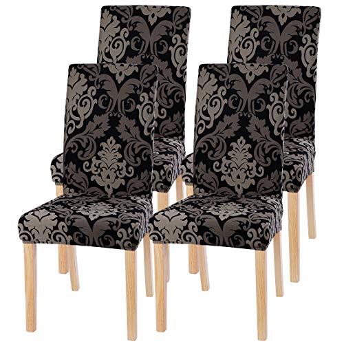 papasgix Stuhlhussen Stuhlbezüge Stretch Sitz Abdeckungen Elastische modern Stuhlabdeckung Hussen für Stuhl Hotel Esszimmerstuhl Dekoration 1/2/4/6er Set