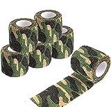 Bandage Cohésif - Vert Camouflage - 5 Rouleaux - 0.05m X 4.5 m Autoadhésif, Premiers...