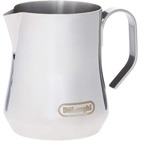 De'Longhi Stainless Steel Milk Frothing Pitcher, 12 ounce (350 ml), Barista Tool, Frother Jug for Espresso Machine Coffee Cappuccino Latte Art, DLSC0, 12 oz