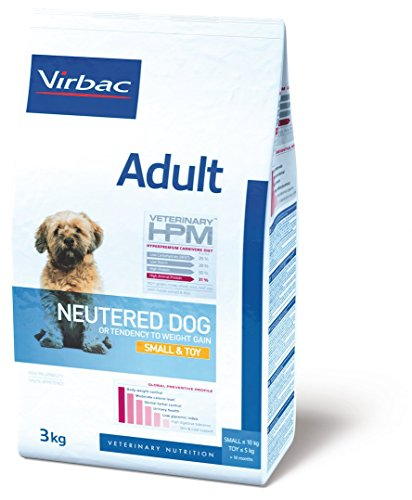 Virbac Veterinary HPM Vet Dog Ad Neutered S & Toy Nourriture pour Chien 7 kg