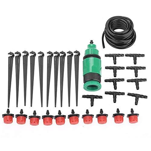Zerodis irrigatieset 4/7mm Micro druppels irrigatieslang koelsysteem voor terras, tuin, gazon, kas