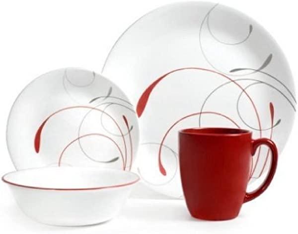 Corelle Livingware 32 Piece Dinnerware Set Splendor Coupe Service For 8