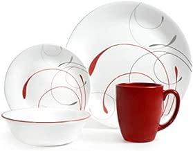 Corelle Livingware 32-Piece Dinnerware Set, Splendor Coupe Service for 8