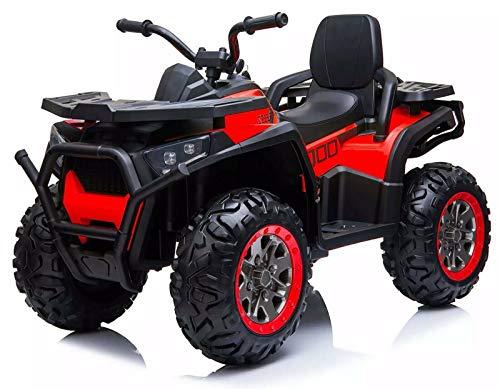 Tecnobike Shop Quad Elettrico per Bambini 12V ATV 2.0 con Radiocomando 3 velocità Mp3 USB (Rosso)