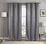 kensie Maddie Metallic Specks Blackout Curtain, 38' W x 84' L, Mouse