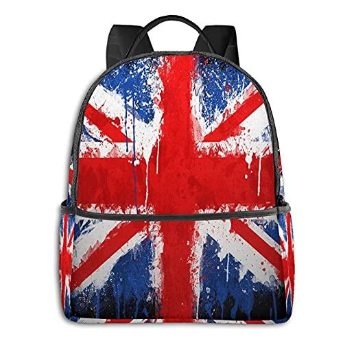 Union Jack Zaino Casual Viaggio Bookbag Con Cerniera Per Business Scuola Lavoro Computer Portatile Bookbag