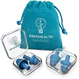KEENHEALTH Reusable Earplugs (4 Units); Noise Reduction Rate 29dB; Secure & Comfortable; for Construction Sites, Motorcycling, Festivals, Concerts, Airplanes; BPA-Free; 2Pack