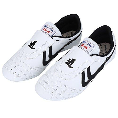 VGEBY1 Taekwondo Schuhe, leichte Schuhe Boxen Kung Fu TaiChi Kampfsport Sneaker für Taekwondo, Boxen, Kung Fu und Taichi, Weiß - weiß - Größe: 39 EU