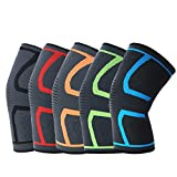 PENDO Knee Brace - 2 Compression Sleeves for Sports, Running, Weightlifting, Powerlifting, Exercise - Helps Soothe Muscle Pain - Elastic, Breathable Workout Accessories - Support Gear for Men & Women (Black, Small)