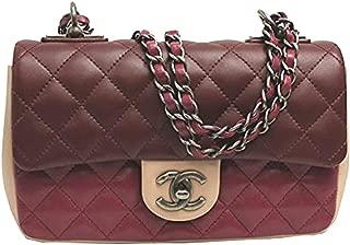 Womens Tri-color Leather Flap Chain Shoulder Bag A92632