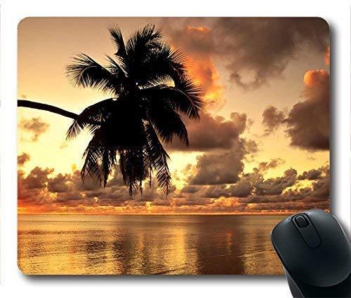 Summer Sunset Beach Benutzerdefinierte längliche Mauspad Rechteck Gaming Rubber Mousepad -038