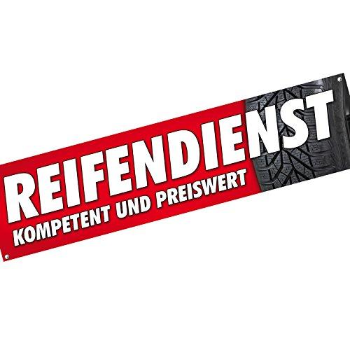 KDS Reifenservice - Reifendienst - Räderwechsel Reifen Spannbanner Banner Werbebanner 2 x 0,5 Meter Plakat