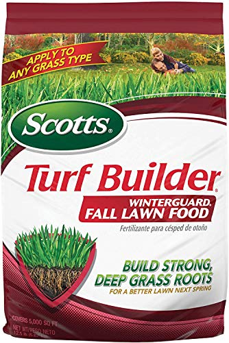 Scotts Turf Builder WinterGuard Fall Lawn Food, 12.5 lb. - Fall Lawn Fertilizer Builds Strong, Deep Grass Roots for a Better Lawn Next Spring - Covers 5,000 sq. ft, 1 Pack