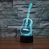 Instrumento musical 3D Dimensional Orchestra Headset Rock Band Luz nocturna Guitarra Lámpara de mesa Sala de estar Dibujos animados encantadores Regalo para niños
