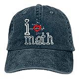 HomePink Heart of Love Math Gorra de béisbol Ajustable para Hombre y Mujer