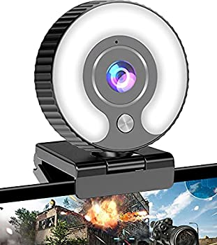 Streaming Webcam with Ring Light HD 1080P Web Camera with Microphone for Laptop Desktop Mac Mini MacBook Pro/air PC Monitor USB Face Cam for Gaming Streaming Twitch Zoom YouTube