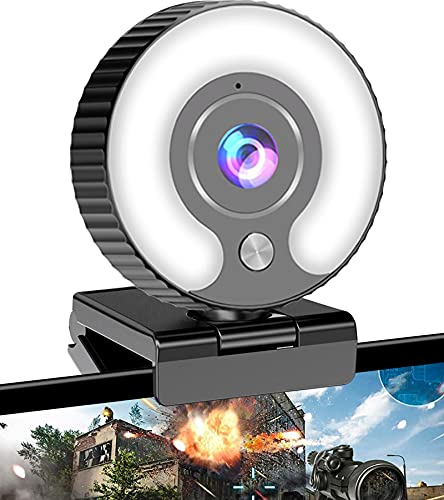 Streaming Webcam with Ring Light HD…