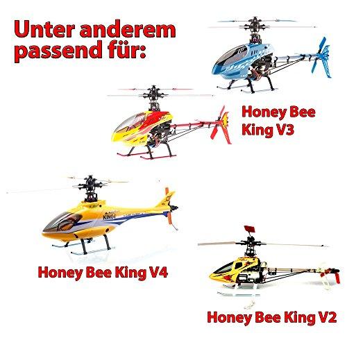 HSP Himoto Original Rotorblätter-Set für RC Hubschrauber Honey Bee King V2, V3 oder V4, Helikopter Ersatzteil ek4-004 White, Modellbau, Neu