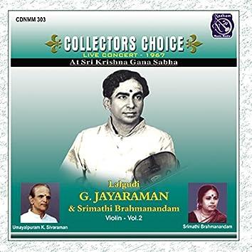 Collectors Choice - Lalgudi G Jayaraman, Vol. 2 (Live)