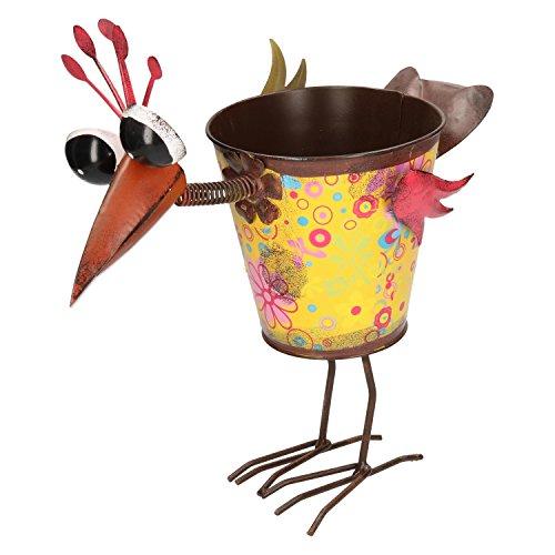 Oiseau Coloré Décoration de jardin métal pour le balcon et pot de pot de fleurs jardin Jardinière Pot