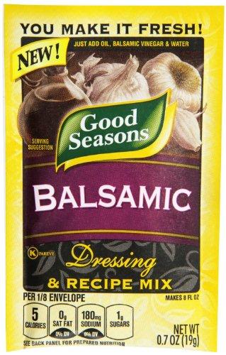 Good Seasons Balsamic Salad Dressing & Recipe Mix .7 oz (Pack of 6)