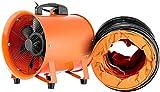 VEVOR Professionale Ventilatore Industriale 2295CFM 30cm/12pollici Ventilatore Da Pavimento Ventilatore Estrattore Ventilatore Assiale 3300RPM 0.7HP Con Tubo Flessibile PVC 5m