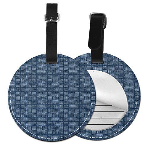 Etiquetas para Equipaje Bolso ID Tag Viaje Bolso De La Maleta Identifier Las Etiquetas Maletas Viaje Luggage ID Tag para Maletas Equipaje Tejido de Canasta Azul como