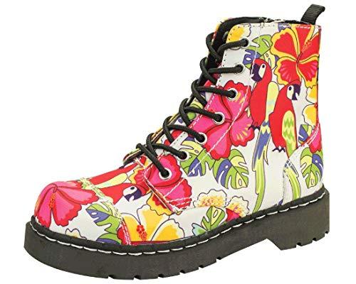 T 7 By Print Women's u Eu37 Ukw4 Tropical Boot Parrot Anarchic Eye kShoes cqS435jLRA