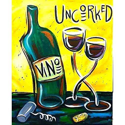 YINGXIN134 Rompecabezas de 1000 Piezas para Adultos Rompecabezas de Botellas y Tazas de Vino Rompecabezas para Adultos Rompecabezas de 1000 Piezas para adultos-26x38cm