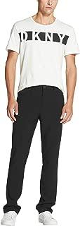 Men's 5 Pocket Solid Slim-Straight Tech Flat Front Pant