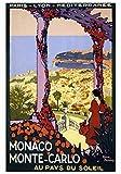Generic Monaco Vintage Reisen Fotodruck Poster Stadt